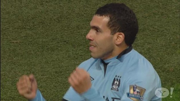 Tevez in the driving seat