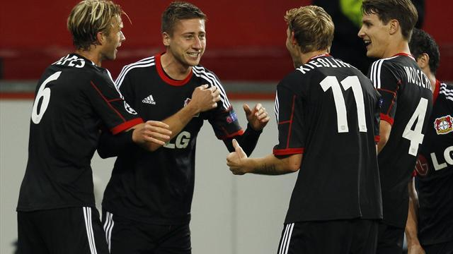 Champions League - Leverkusen leave it late to beat Sociedad