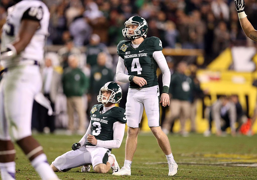 Michigan State punter Mike Sadler was one of two college punters killed in a car accident in July. (Getty)
