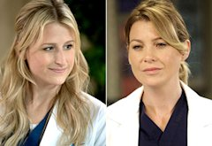 Mamie Gummer, Ellen Pompeo | Photo Credits: Jack Rowand/The CW; Kelsey McNeal/ABC