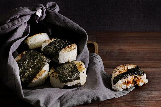 Spicy Smoked Salmon Onigiri Rice Balls