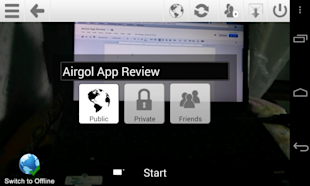 Capture One Minute Video Moments With AirGol And Build Your Video Network image AirGol Video Recording 1024x614