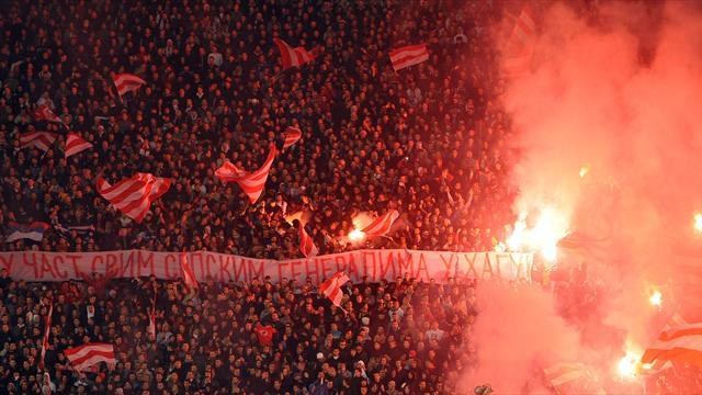 European Football - Partizan win troubled Belgrade derby as 92 fans arrested