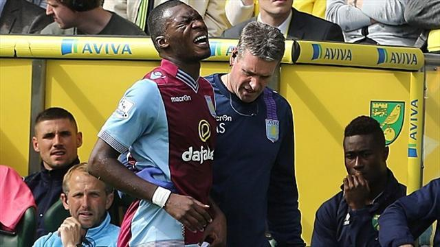 Premier League - Villa dealt Benteke injury blow