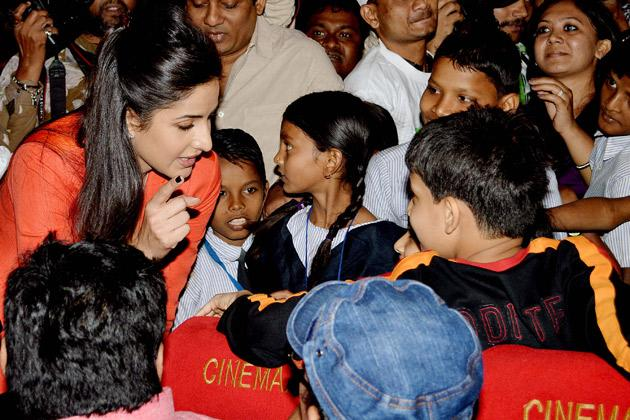 Katrina spends time with children