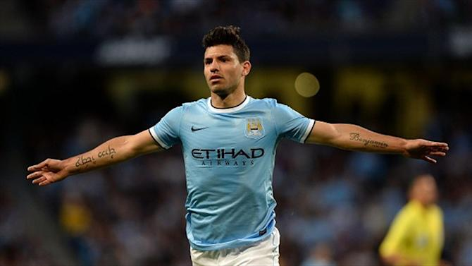 Premier League - Aguero signs five-year contract at Man City