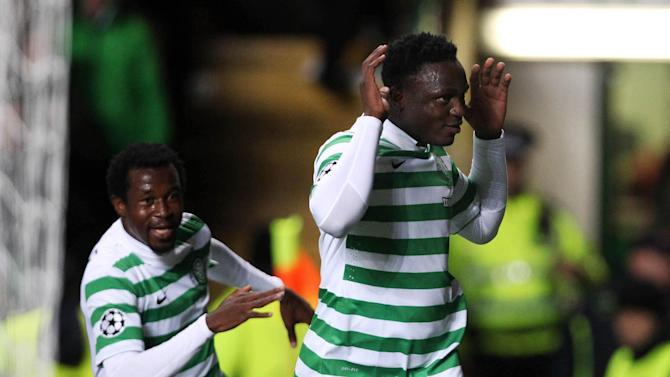 Victor Wanyama, right, was one the heroes as Celtic stunned Barcelona