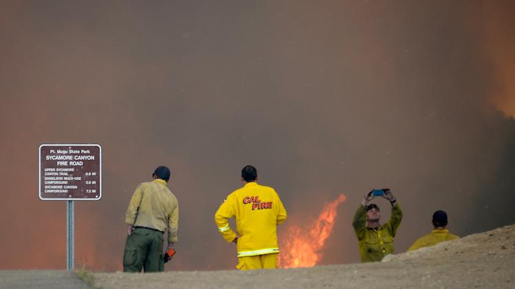 Early Southern California Wildfire Threatens Homes