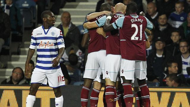 QPR stay bottom after losing to West Ham