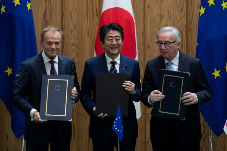 """La Unión Europea y Japón firman un """"histórico"""" acuerdo de libre comercio"""