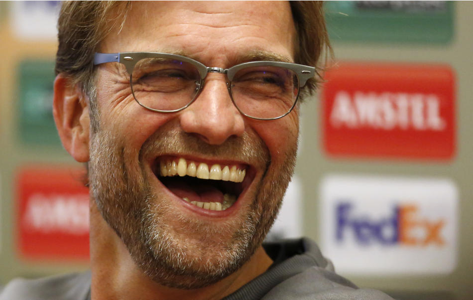 Liverpool manager Juergen Klopp during the press conference