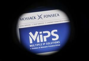 The website of the Mossack Fonseca law firm is pictured …