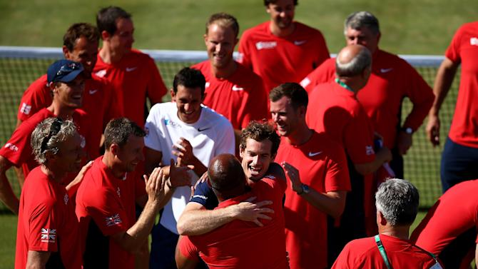 Great Britain v France - Davis Cup: Day Three