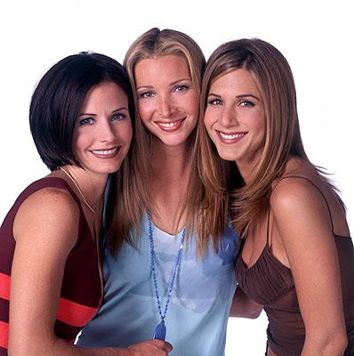 Courteney Cox, Lisa Kudrow and Jennifer Aniston in NBC's Friends