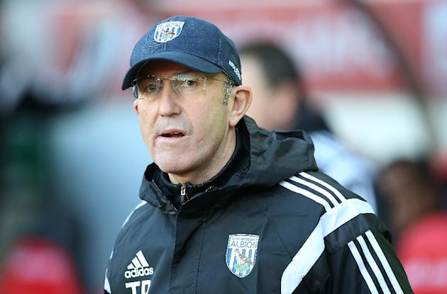 West Bromwich Albion's manager Tony Pulis, pictured during their English Premier League match against Sunderland, at the Stadium Of Light in Sunderland, on February 21, 2015