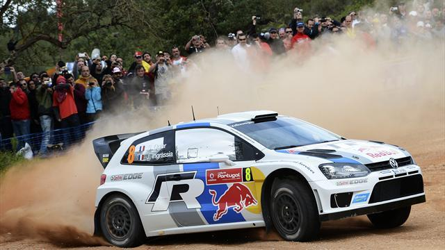 WRC - Ogier still ahead while Latvala surges