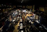 A view of the hall at the annual New York City Tattoo Convention on May 19. Tattoo artists from Brazil, Europe, Japan and other spots around the globe unveiled their wares to a mixed crowd
