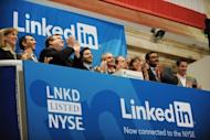 Linkedin founder Reid Garrett Hoffman (C) and CEO Jeff Weiner (2nd R) at the ringing of the opening bell of the New York Stock Exchange in 2011 during the initial public offering of the company. offman, an early investor in Facebook who sold some of his stake in the company when it went public, said that he seldom checks his own firm's stock price preferring to focus on building the business