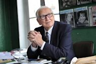 French fashion designer Pierre Cardin, pictured at his office in Paris, on June 27. As Cardin prepares for a comeback show on Sunday, the eve of his 90th birthday, the style veteran thinks he still has a lot to offer modern man