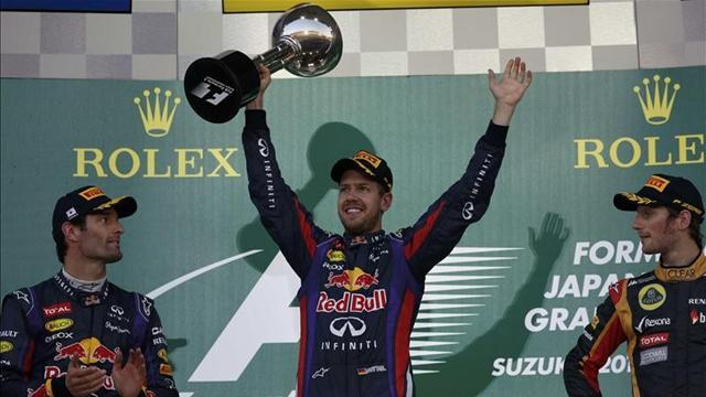 Formula 1 - 'I'm blown away' says five-in-a-row Vettel