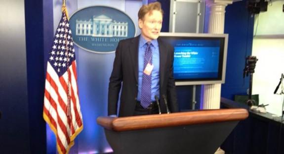 Conan O'Brien Pretends To Be Obama Press Secretary For The Day: Photo