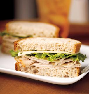 Starbucks Turkey and Swiss Sandwich