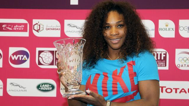 Tennis - Serena oldest player to top rankings after Doha win