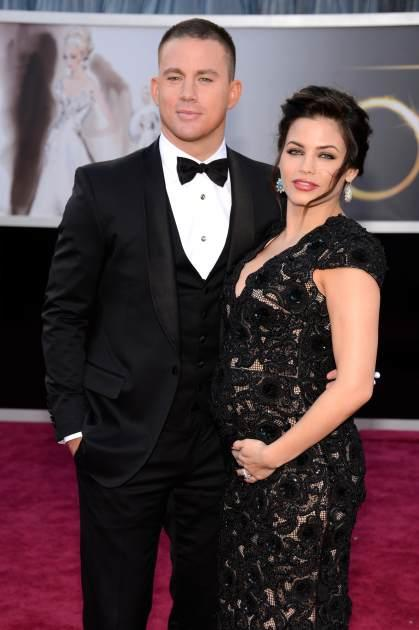 Channing Tatum and his wife, Jenna Dewan-Tatum, arrive at the Oscars held at the Hollywood & Highland Center, Hollywood, on February 24, 2013 -- Getty Images