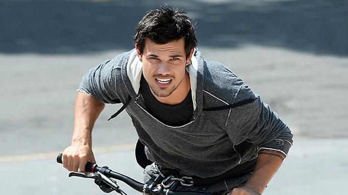 Taylor Lautner on location for