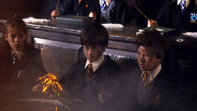 Harry Potter and the Sorcerer's Stone 2001 Warner Bros. Pictures Daniel Radcliffe Rupert Grint