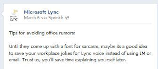 Video: Is Your Social Media Tone Asking to Be Made Fun of? image microsoft lync resized 600