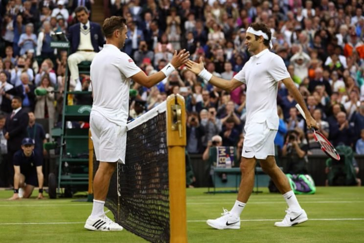 Roger Federer faced an unlikely second-round opponent at Wimbledon. (Getty)
