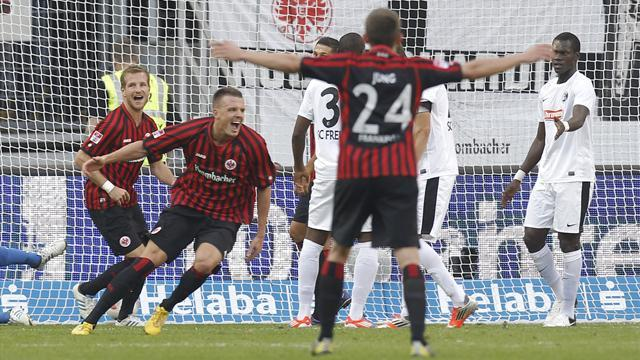 German Bundesliga  - Frankfurt remain second after comeback win over Freiburg