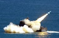Taiwan's Navy launches a Hsiungfeng missile during military exercises in 2003. Taiwan has for the first time deployed cruise missiles capable of striking key military bases along the southeast coast of the Chinese mainland, according to local media reports