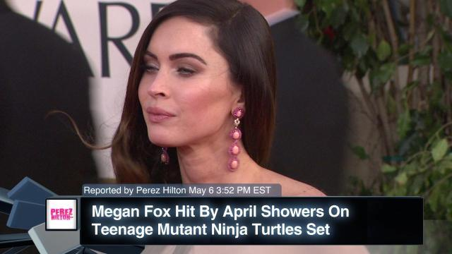 Megan Fox Hit By April Showers On Teenage Mutant Ninja Turtles Set