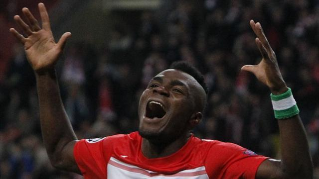European Football - Injured Spartak striker Emenike to miss up to six weeks