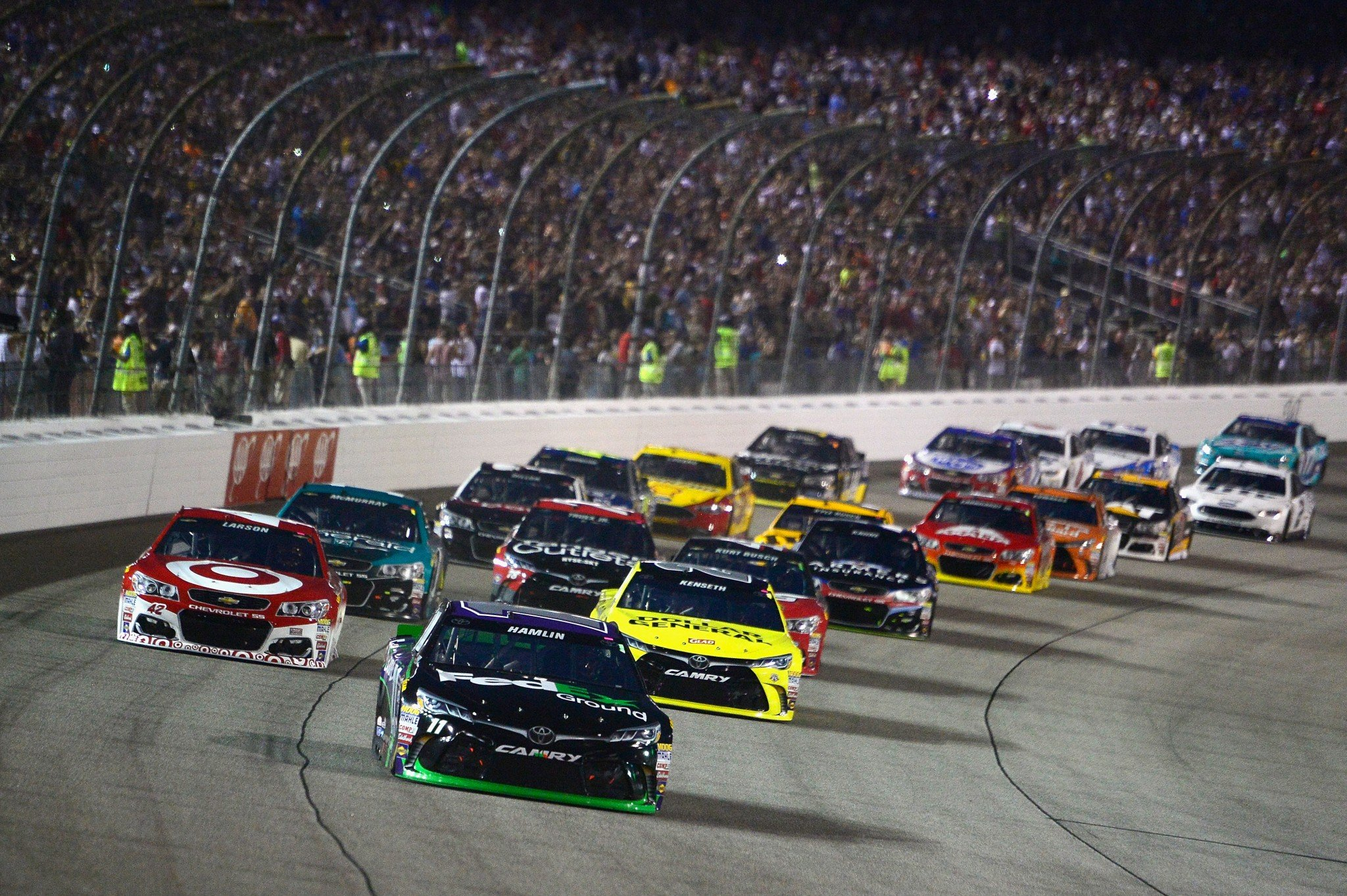 Denny Hamlin leads the field at Richmond and in Power Rankings (Getty).