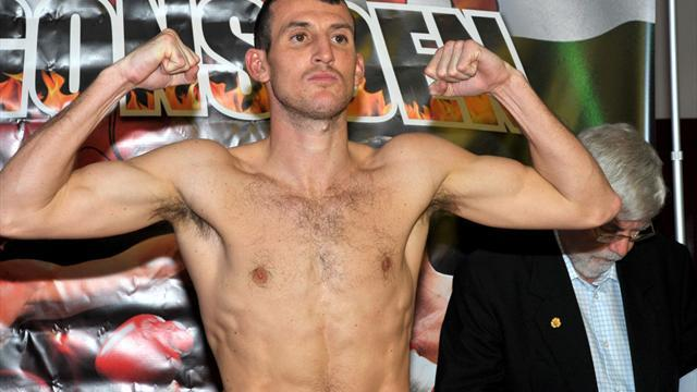 Boxing - Clinical Mathews stops Woodhouse in four, wants Burns next
