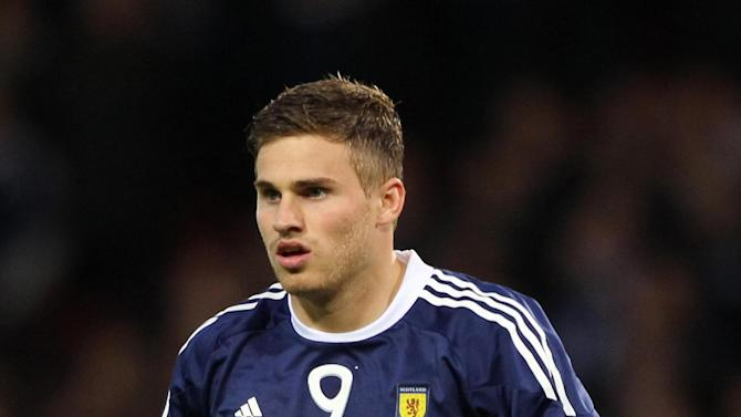 David Goodwillie scored on his last appearance for Scotland against Spain