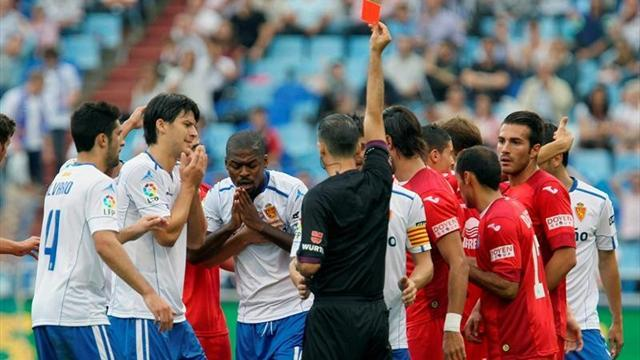 10-man Getafe beat nine-man Zaragoza