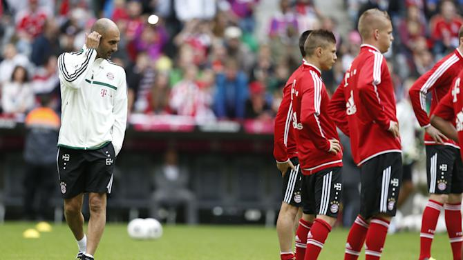 Germany Bayern Munich Soccer Training Guardiola