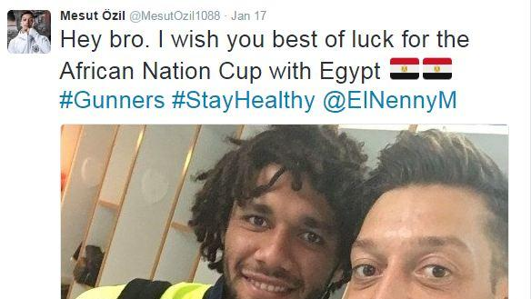 Ozil wishes Arsenal teammate Elneny luck with Egypt
