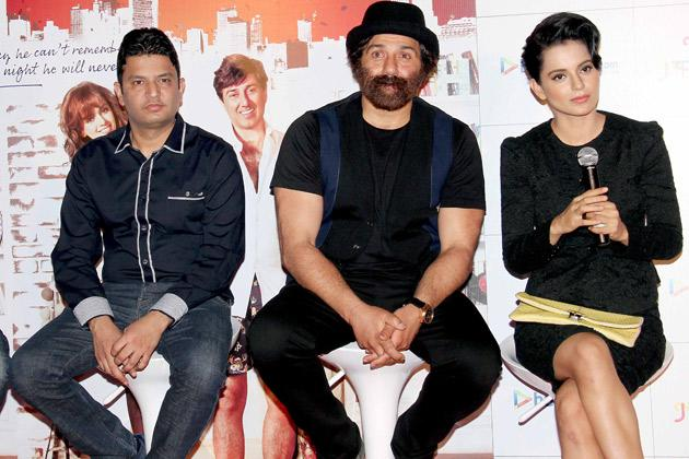 Sunny Deol and Kangna in 'I Love New Year'