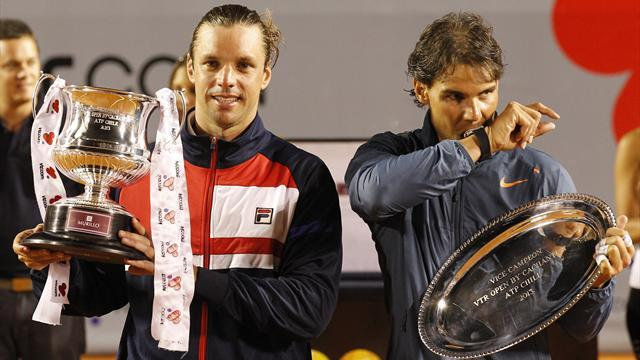 Tennis - Zeballos stuns Nadal in Chilean Open final