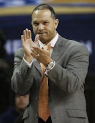 Auburn head coach Tony Barbee watches play against South Carolina during the first half in a first round Southeastern Conference tournament game, Wednesday, March 12, 2014, in Atlanta. (AP Photo/John Bazemore)