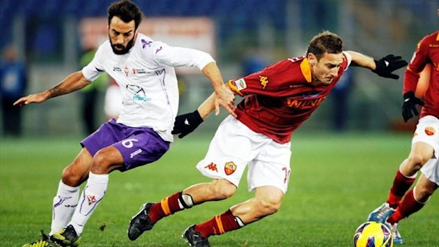 Roma's Francesco Totti was in fine form, scoring twice against Fiorentina (Reuters)