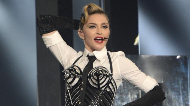 Madonna performs on stage during her 'MDNA' tour at Ramat Gan Stadium in Tel Aviv, Israel on May 31, 2012 -- Getty Premium