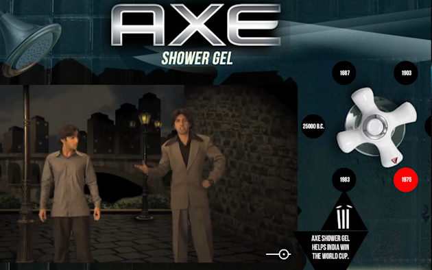 AXE Shower Gel Interactive YouTube Campaign Shows History In The Making image AXE Shower Gel YouTube