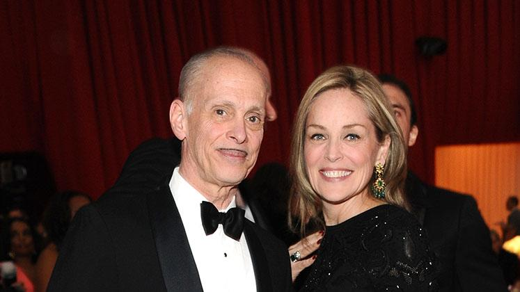 Chopard At 21st Annual Elton John AIDS Foundation Academy Awards Viewing Party: John Waters and Sharon Stone