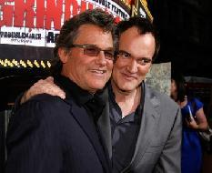 Kurt Russell and Quentin Tarantino arrive to the premiere of 'Grindhouse' at the Orpheum Theatre in Los Angeles on March 26, 2007 -- Getty Images